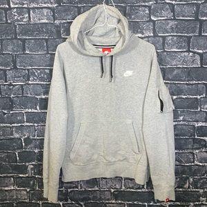 Grey Nike Longsleeve Sweater Hoodie